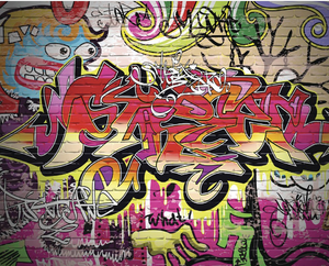 City Graffiti Wall Mural - (3.0m x 2.4m/ 3.5m x 2.8m)