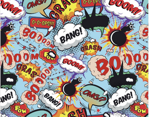 Comic Pop Wall Mural - (3.0m x 2.4m/ 3.5m x 2.8m)