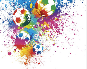 Football Splash Wall Mural - (3.0m x 2.4m/ 3.5m x 2.8m)