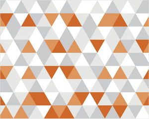 Orange Geometric Wall Mural - (3.0m x 2.4m/ 3.5m x 2.8m)