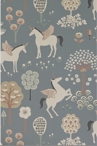 True Unicorn Light Blue Wallpaper - MJN