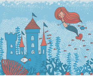 Mermaids Castle Wall Mural - (3.0m x 2.4m/ 3.5m x 2.8m)