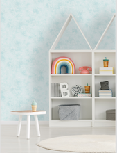 Iridescent Textured Teal Wallpaper