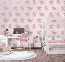 Iridescent Unicorns Pink Wallpaper