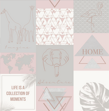 Adventure Utopia Pink Wallpaper