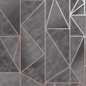 Charon Utopia Charcoal Rose Gold Wallpaper