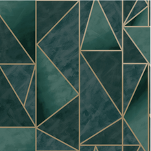 Charon Utopia Teal Gold Wallpaper