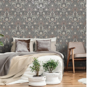 Etosha Charcoal Wallpaper - HW