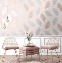 Astonia Feathers Blush Pink Wallpaper