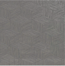 This grasscloth textured wallpaper in a warm charcoal grey is a funky way to add both texture and geometric design to your walls. Sophisticated and luxurious.