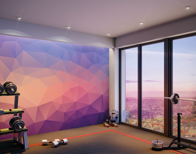 Shades of Geometric Ready Made Wall Mural