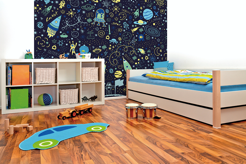 Space Doodles Ready Made Wall Mural