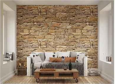 Stone fancify wall mural