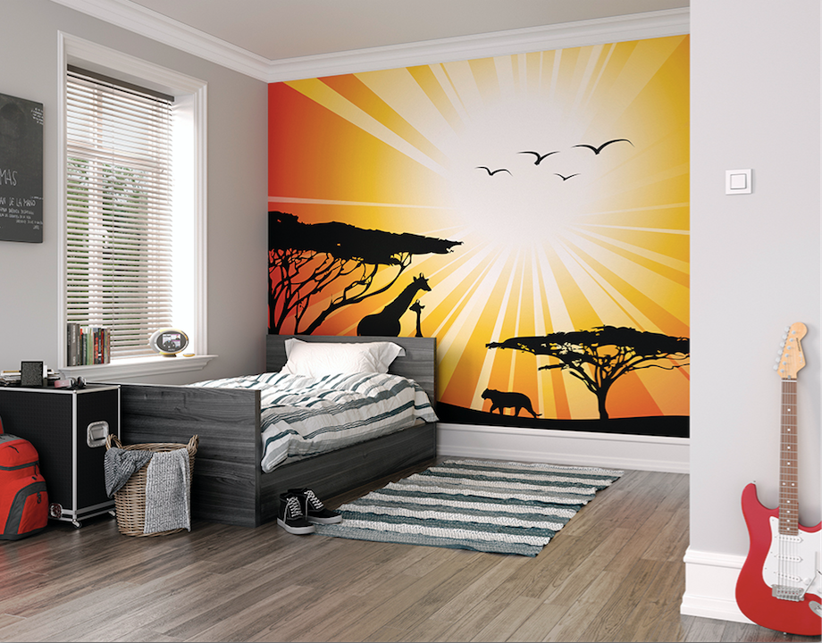 Sunset Safari Ready Made Wall Mural