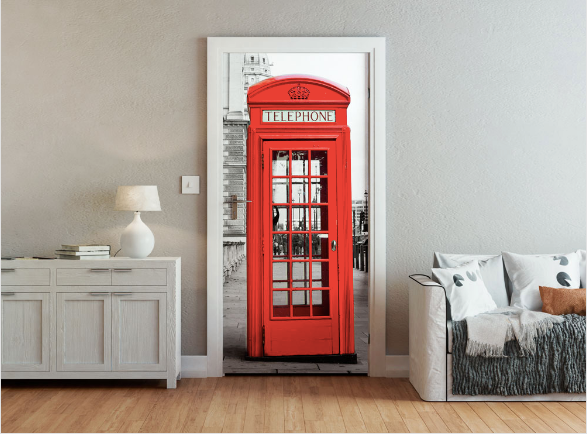 Telephone Box Ready Made Door Mural