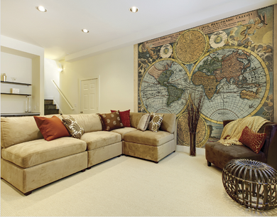 Traveller's Globe Ready Made Wall Mural