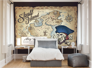 Treasure Map Ready Made Wall Mural