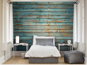 A fantastic way to update any space. Highlighting the grain and texture of traditional wooden cladding this wall mural plays with the perceptions of what an interior wall should be decorated with.