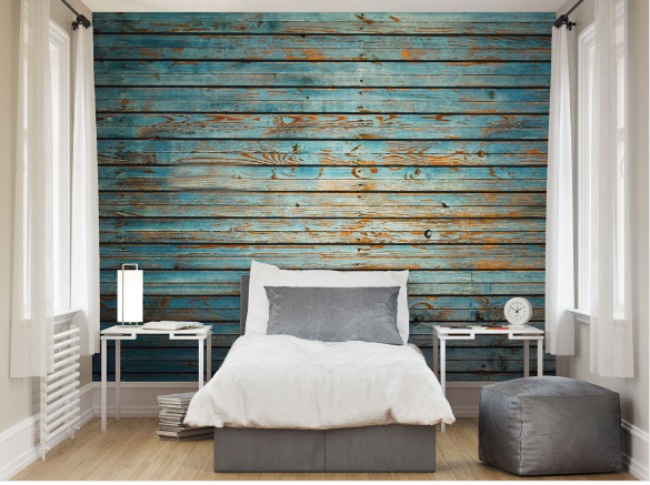 Washed Timber Ready Made Wall Mural