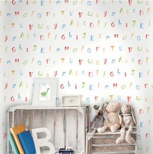 Watercolour Alphabet Wallpaper