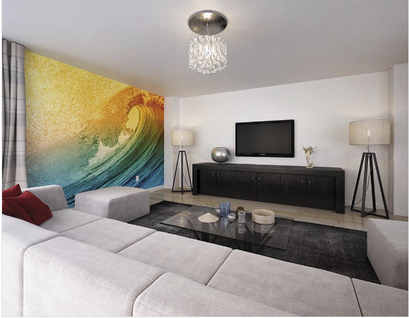 Wave fancify wall mural