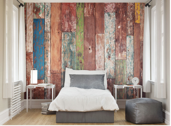 Weathered Wood Wall Mural - (3.0m x 2.4m/ 3.5m x 2.8m)
