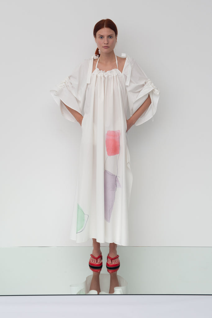 working title - Printed Drawstring Caftan Dress Front