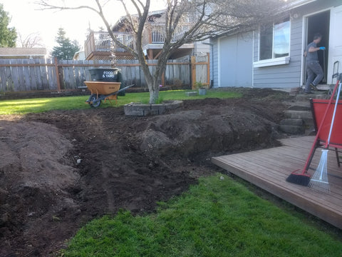 roto-tilled backyard