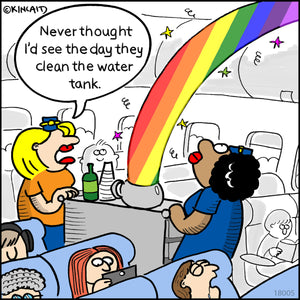 "Jetlagged Comic Cartoon  ""Rainbow Coffee"" 18009 Digital Download"