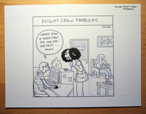"Original Art of ""Flight Crew Problems"""