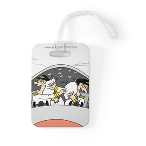 """Pilot Pillow Fight"" Luggage Tag"