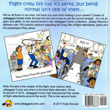 "Jetlagged Comic ""Jetway Reunion"" Book Two back cover"