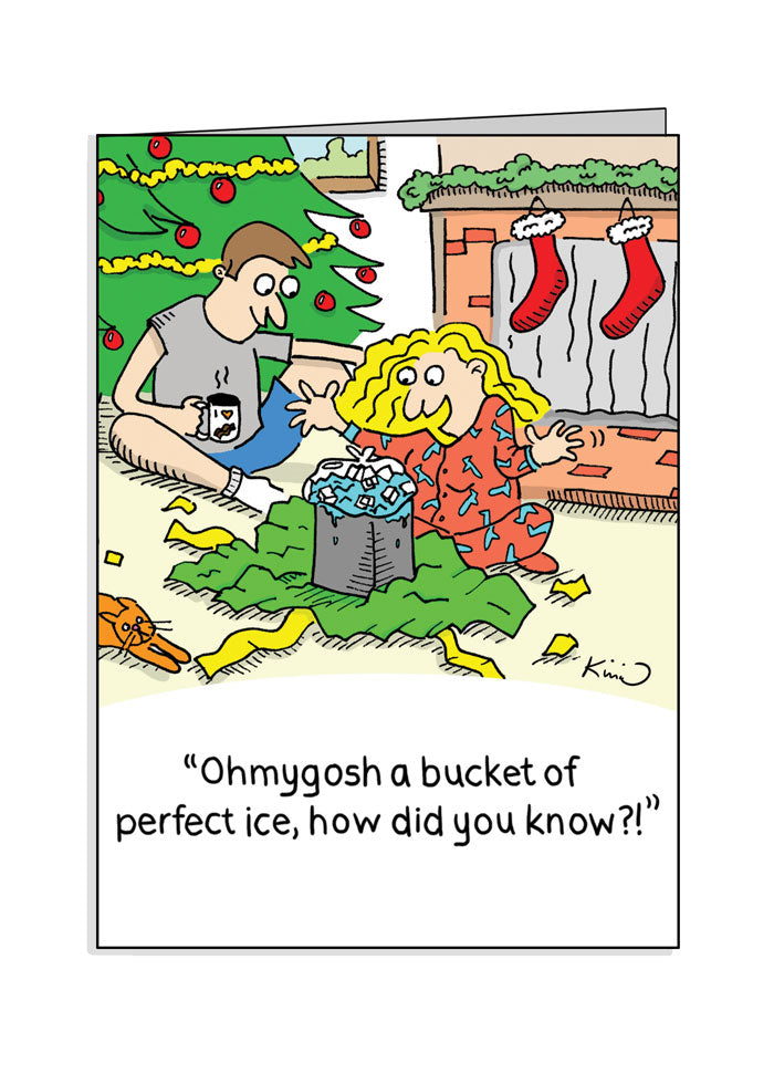 Jetlagged Comic Perfect Ice Holiday Greeting Card front