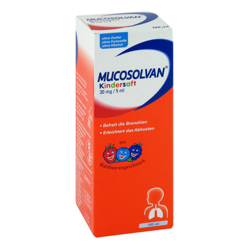 Mucosolvan Kindersaft  100ml(30 mg/5 ml) 沐舒坦儿童去咳止痰糖浆