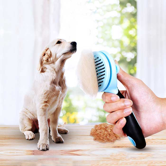 Self-cleaning Deshedding Tool