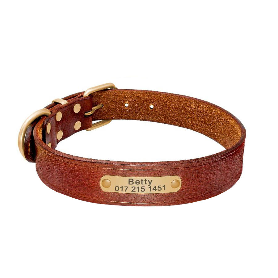 Handmade Personalized Leather Collar