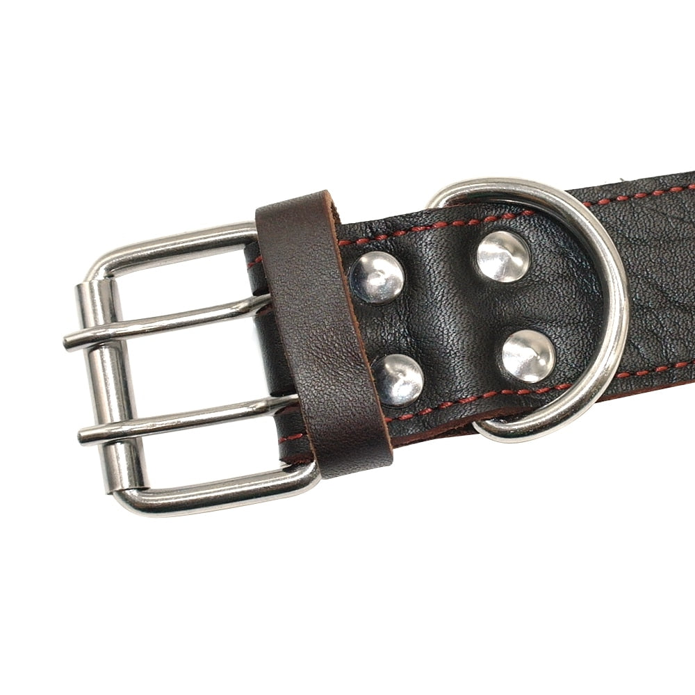 Genuine Leather Training Collar