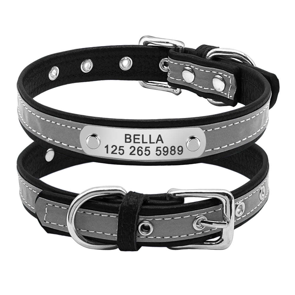 Reflective Personalized Dog Collar