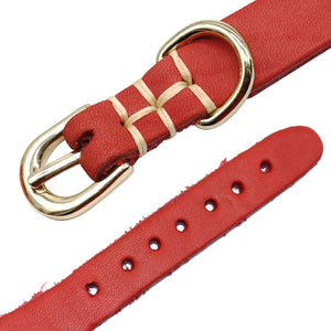 Genuine Leather Personalized Dog Collar#3