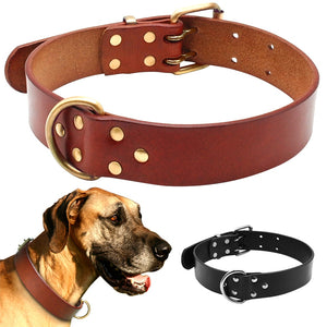 Genuine Leather Dog Collars