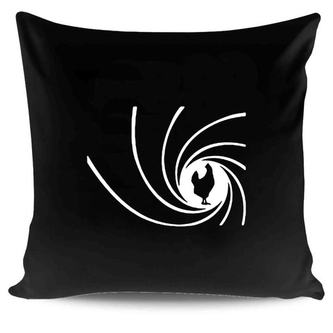 007 James Bound Chicken Funny Humorus Pillow Case Cover