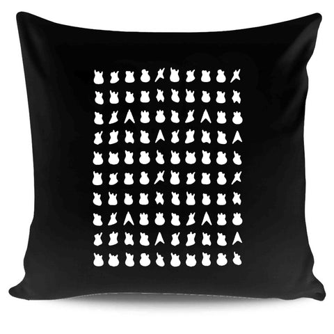 100 Guitars Music Gifts For Guitar Players Graphic Pillow Case Cover