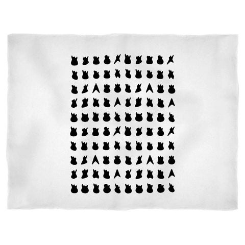 100 Guitars Music Gifts For Guitar Players Graphic Blanket