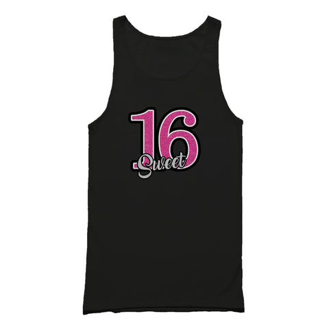 16th Birthday Sixteen Graphic Tank Top