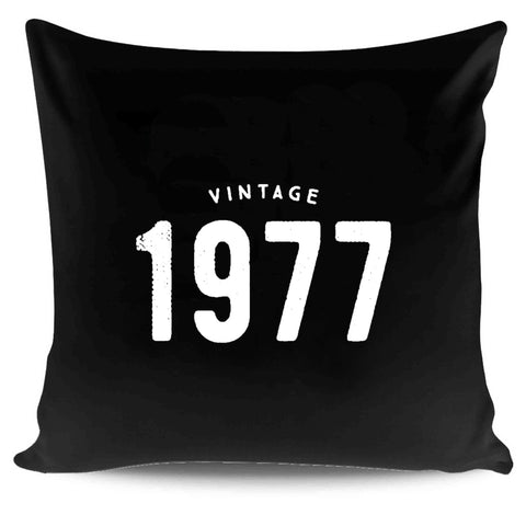1977 Vintage 40th Birthday Gifts Funny Retro Pillow Case Cover