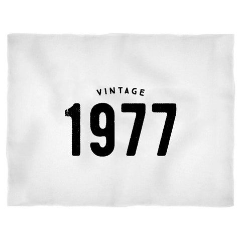 1977 Vintage 40th Birthday Gifts Funny Retro Blanket