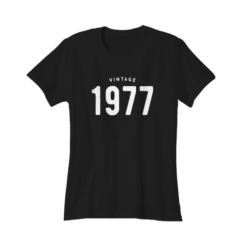 1977 Vintage 40th Birthday Gifts Funny Retro Women's T-Shirt