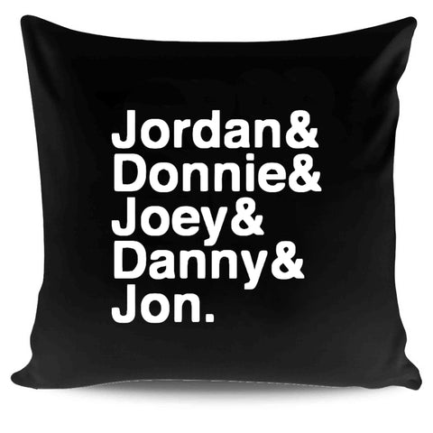 1980s Hangin Tough Joey McIntyre Jordan Knight Donnie Wahlberg Boy Band Fandom Nkotb Pillow Case Cover