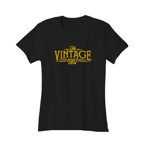 30th Birthday For Her The Vintage 1987 Graphic Gift Ideas Women's T-Shirt