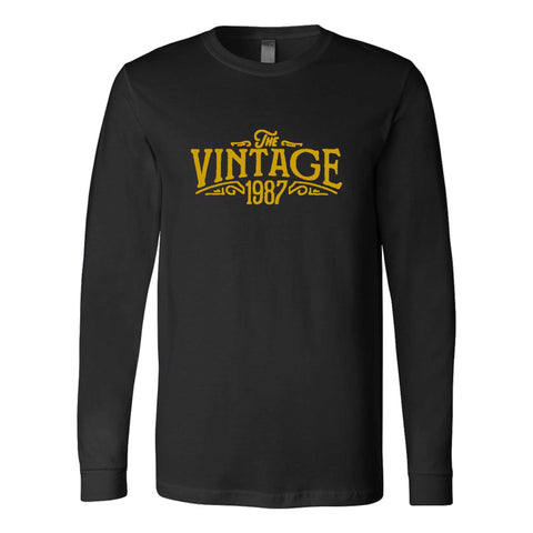 30th Birthday For Her The Vintage 1987 Graphic Gift Ideas Long Sleeve T-Shirt